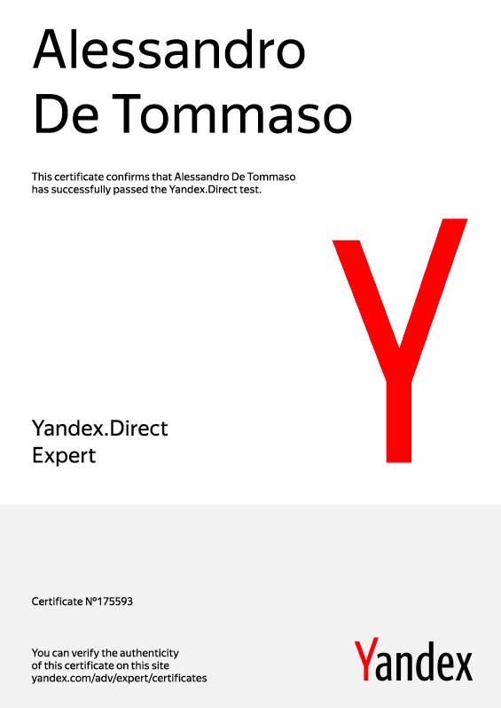Certificazione-Yandex-Direct