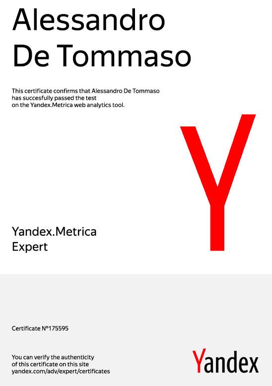 Certificazione-Yandex-Metrica