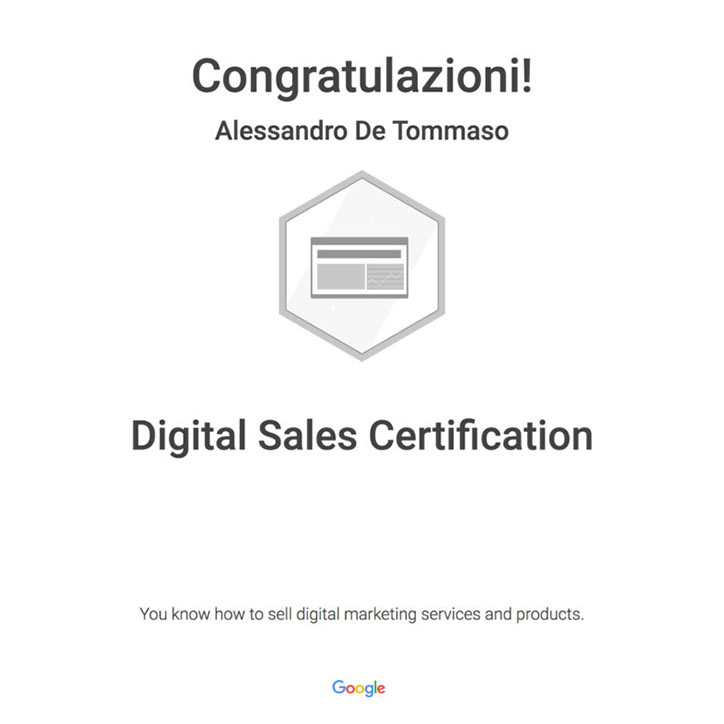 Google Digtal Sales Certification