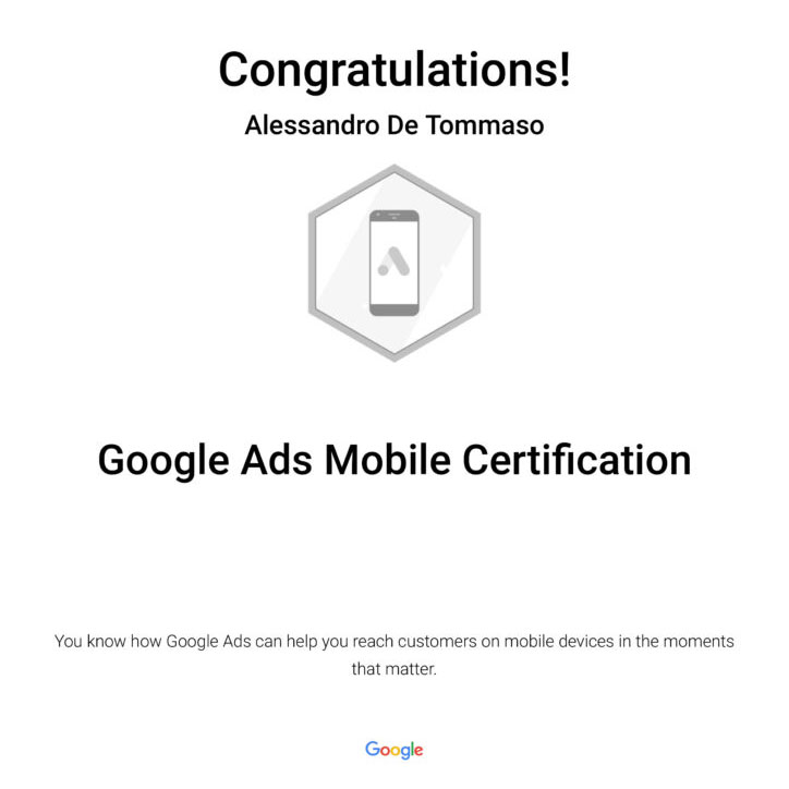 Google Ads Mobile Certification