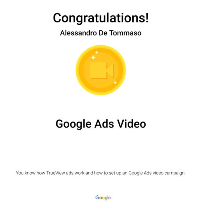 Google Ads Video Certification: Google