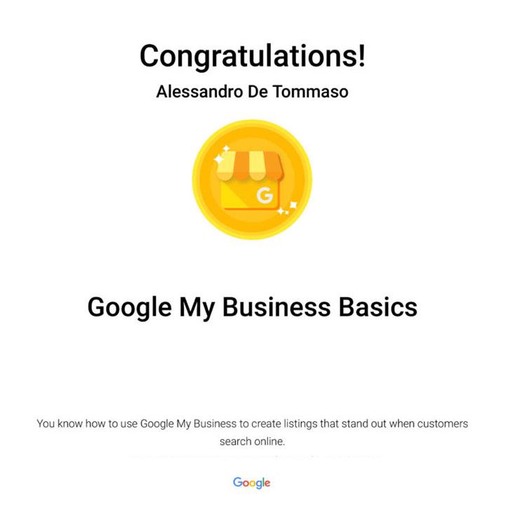Google My Business Certification