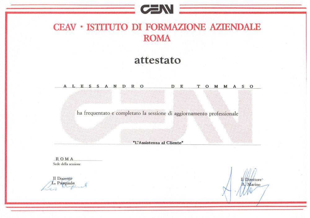 Certificato Aggiornamento Professionale