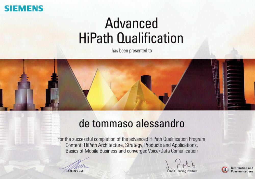 siemens advance certificate